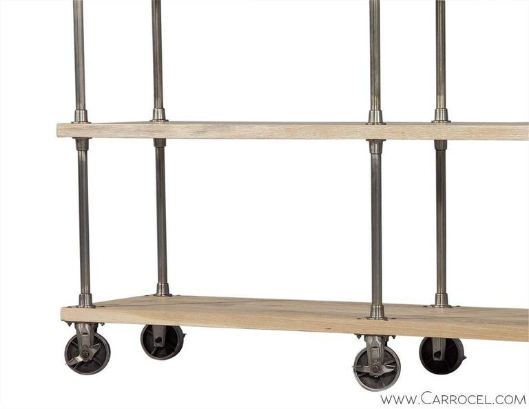 Ralph Lauren Industrial Etagere On Casters At 1stdibs