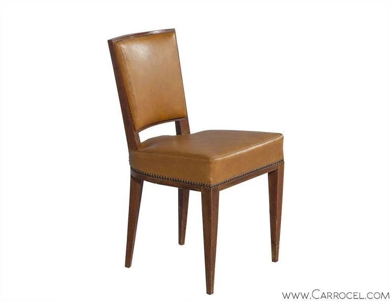 Set Of Ten French Art Deco Dining Chairs For Sale At 1stdibs