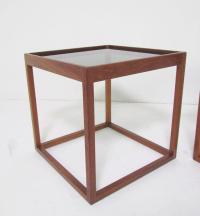 Pair of Mid-Century Danish Teak Cube Form End Tables ...