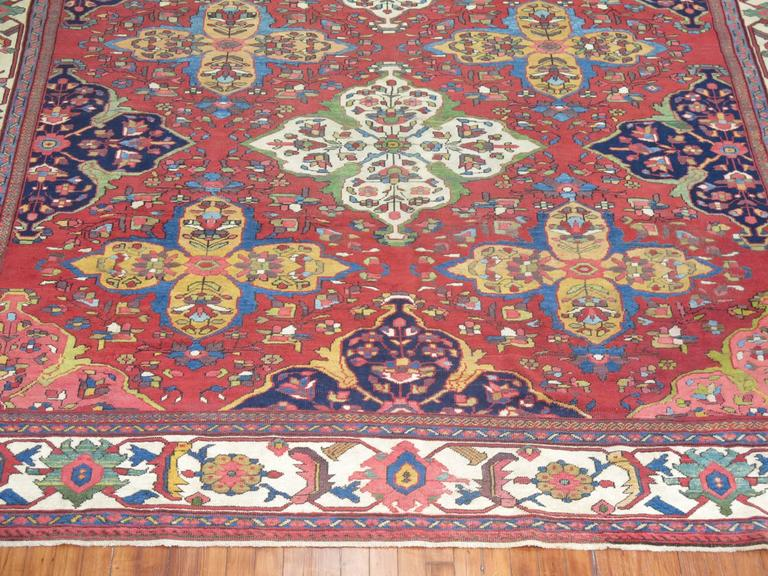 Antique Persian Ferehan Mahal Rug For Sale At 1stdibs