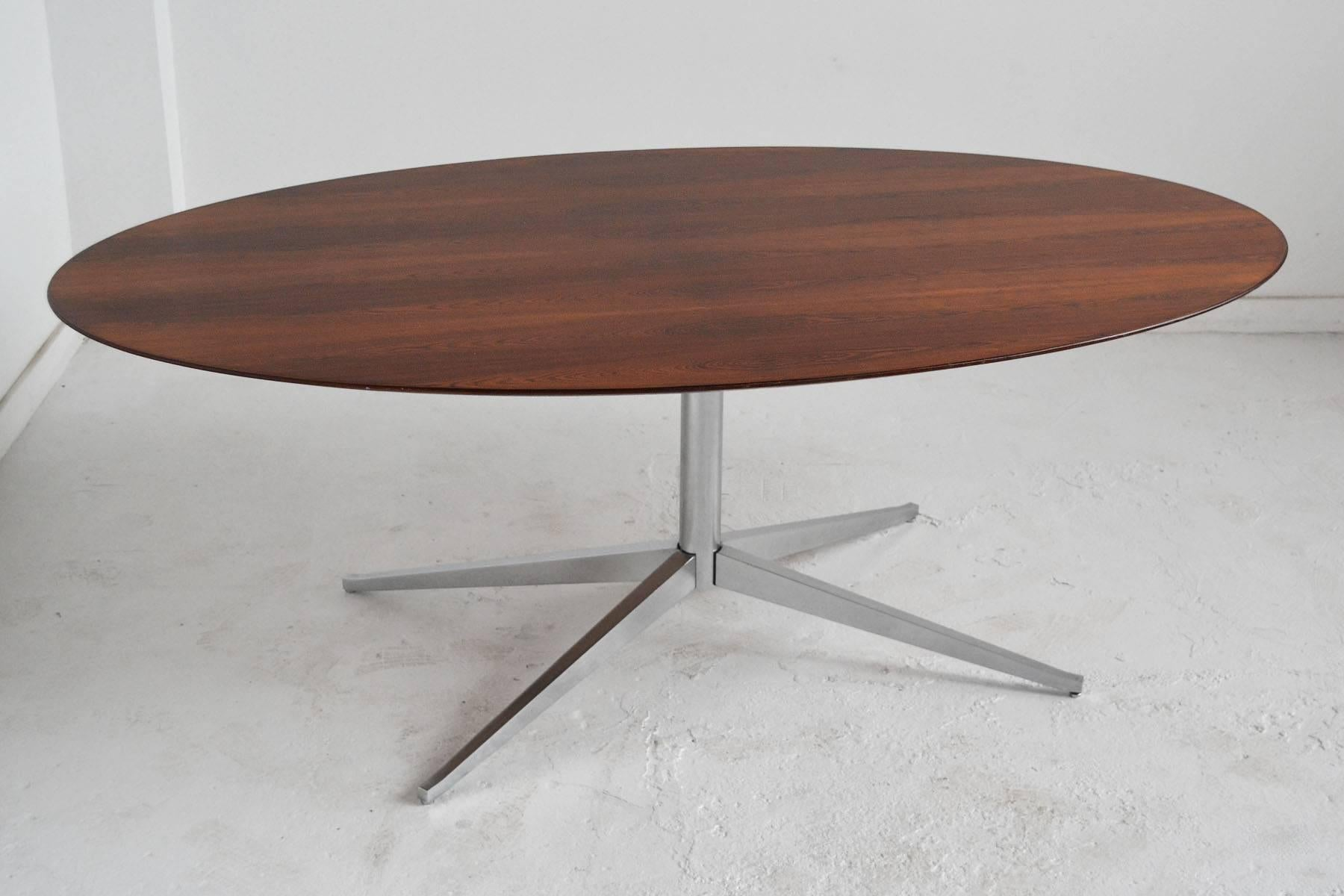 Florence Knoll Rosewood Elliptical Dining Or Conference