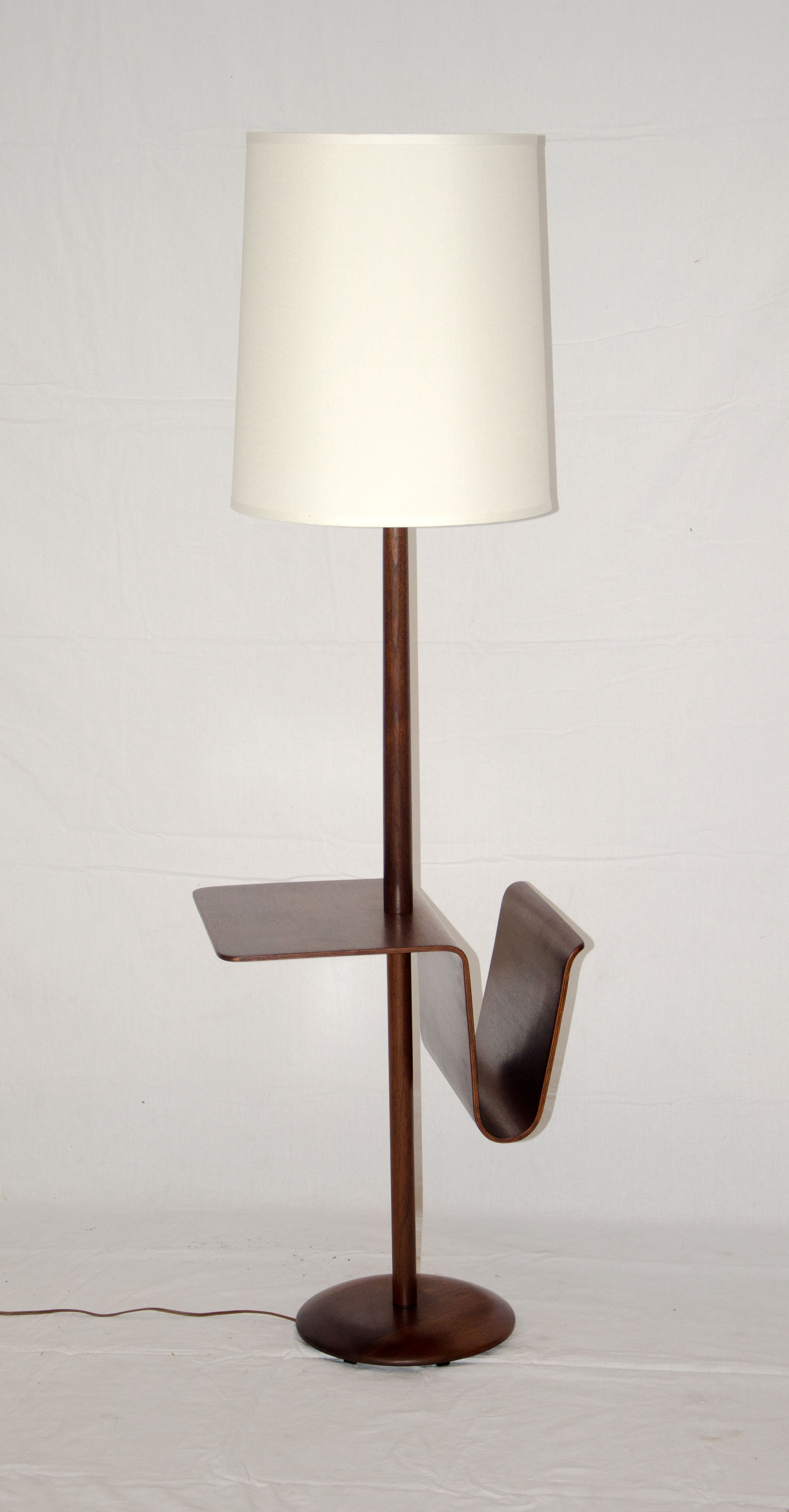 Floor Table Lamps Mid Century Walnut Floor Lamp With Bent Ply Table Magazine Rack