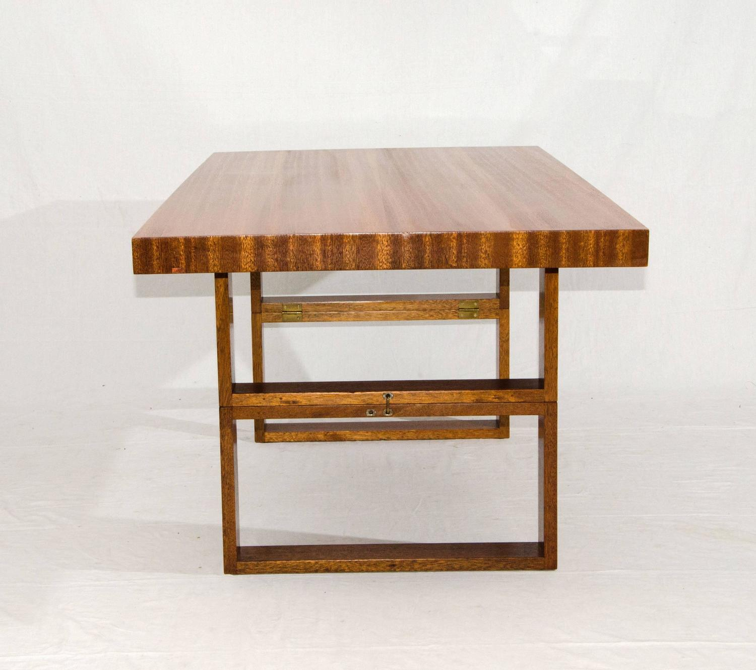 Dual Purpose Coffee Tables Brown Saltman Quotcamel Quot Coffee Or Dining Table By Van Keppel