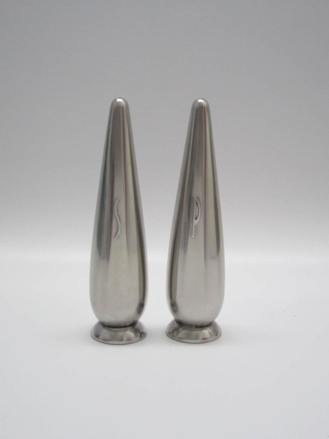 Modern Salt And Pepper Shakers Danish Modern Steel Salt And Pepper Shakers For Sale At