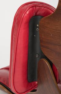 Iconic Rosewood and Red Leather Eames Lounge Chair and ...