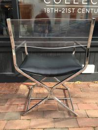Six Lucite and Chrome Director's Chairs at 1stdibs
