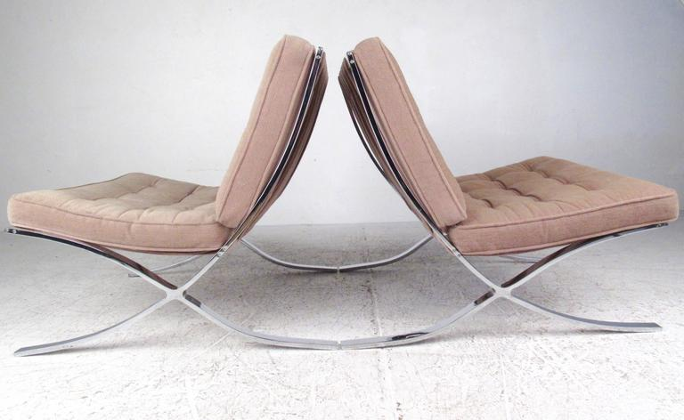 Pair Of Mid Century Modern Chairs In The Style Of Ludwig
