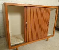 Mid-Century Modern Sliding Door Cabinet at 1stdibs
