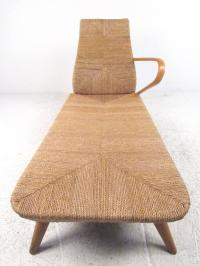 Mid-Century Modern Woven Chaise Lounge For Sale at 1stdibs