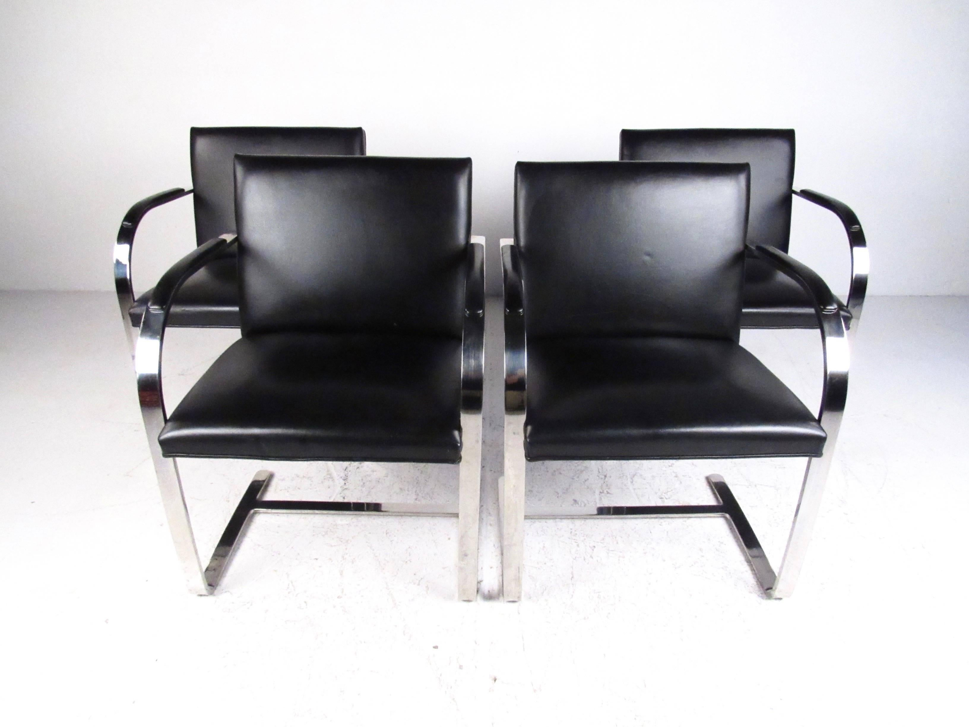 Set Of Vintage Modern Cantilever Dining Chairs By Brueton
