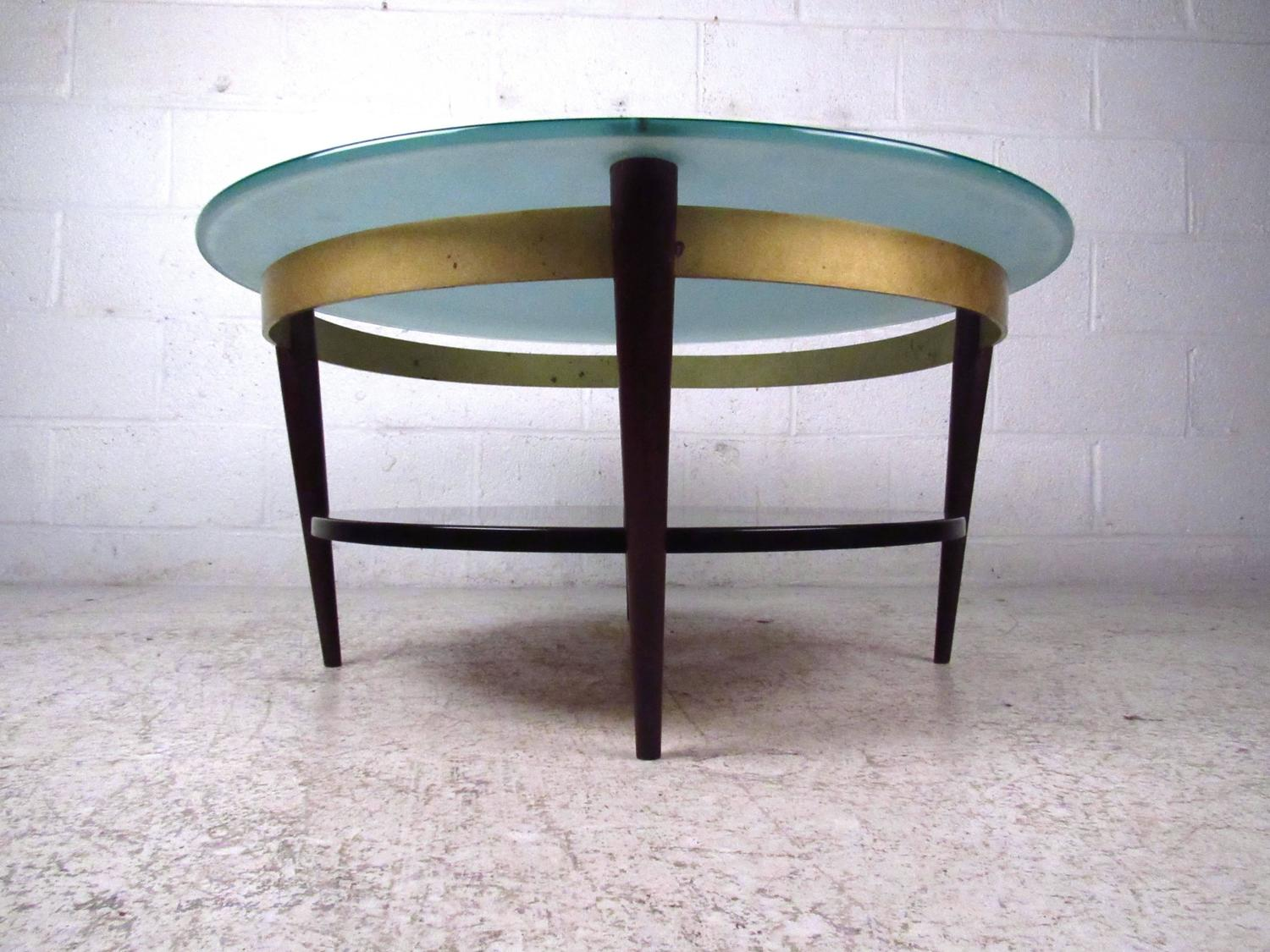 Cool Cocktail Tables Unique Mid Century Floating Top Glass And Brass Coffee