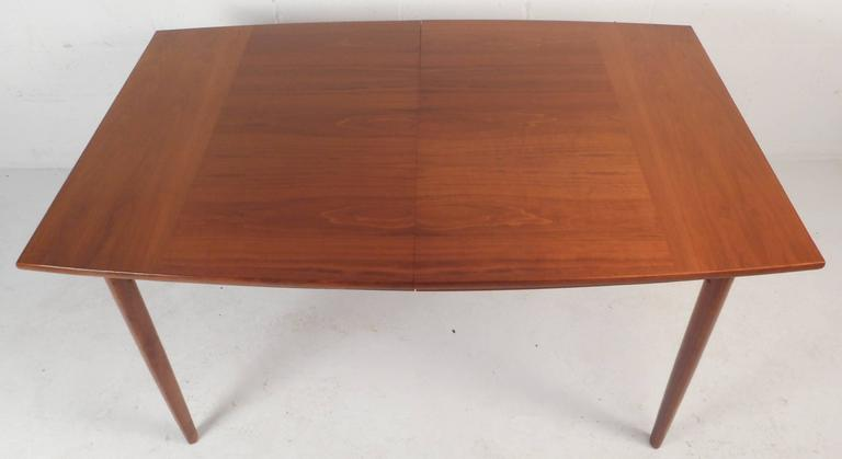 Mid Century Modern Walnut Dining Table By Drexel For Sale
