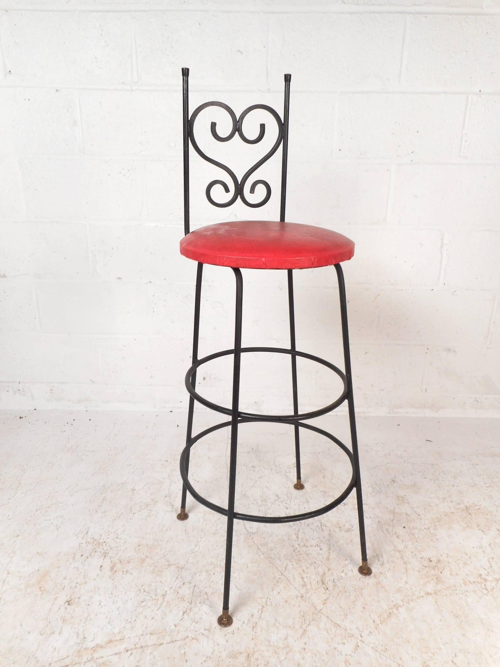 Bar Stools For Sale Set Of Four Vintage Wrought Iron Bar Stools