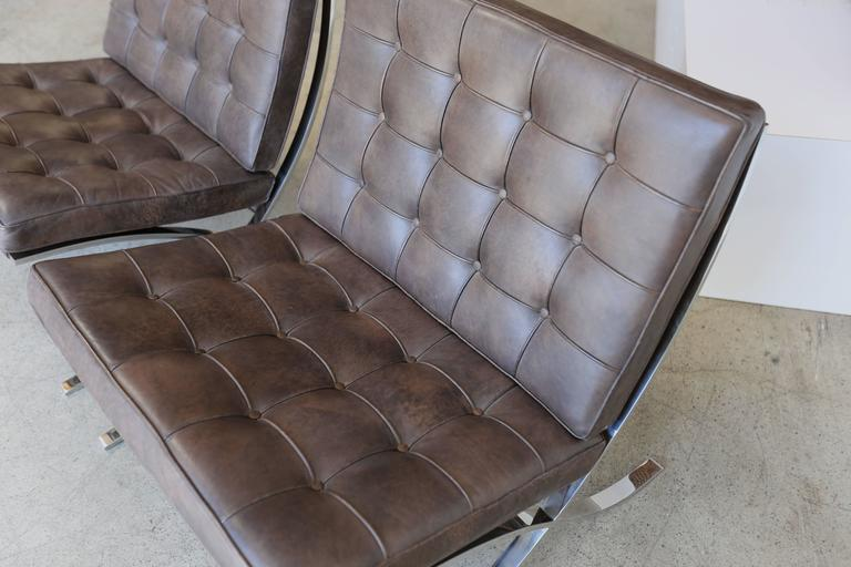Rare Barcelona Chairs By Ludwig Mies Van Der Rohe For