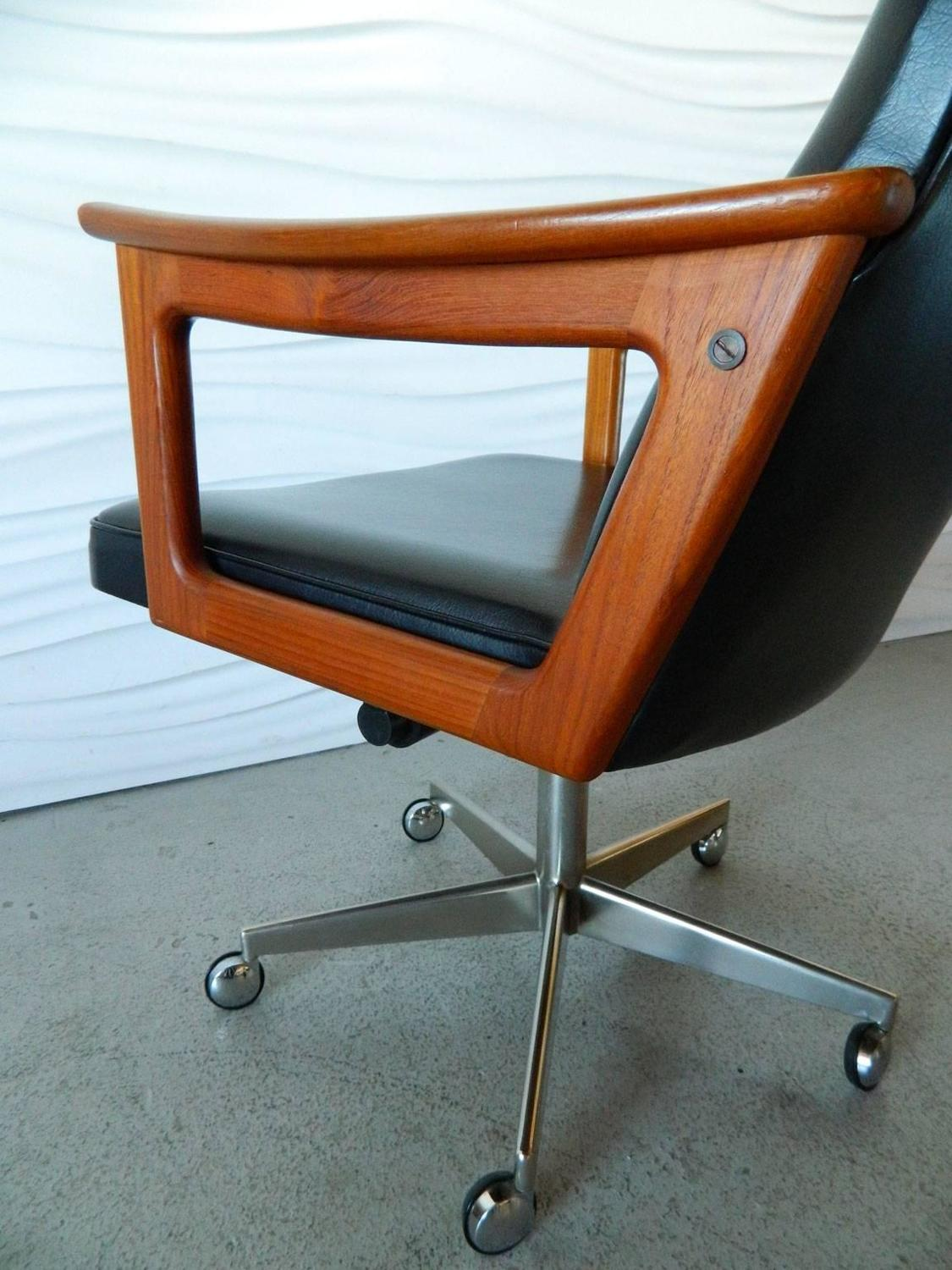 Office Chair Styles Mid Century Modern Danish Teak Desk Chair In The Style Of