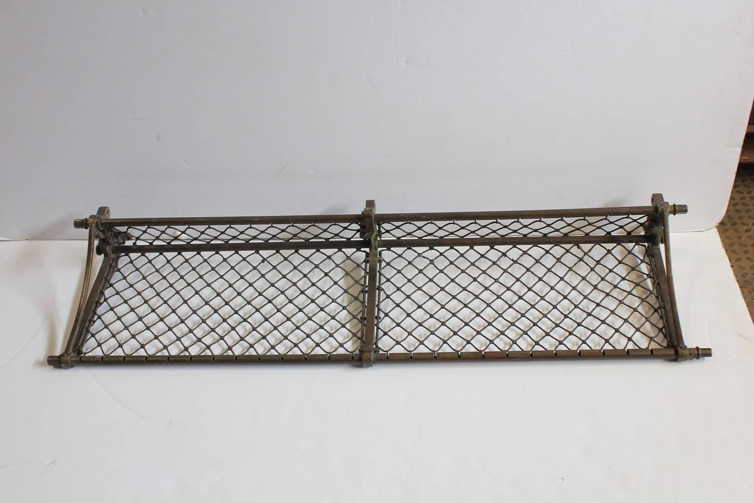 Vintage Suitcase Shelves For Sale Antique American Train Luggage Rack For Sale At 1stdibs