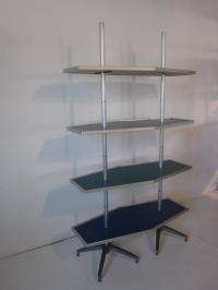 Mid-Century Modern Industrial Shelving Unit For Sale at ...