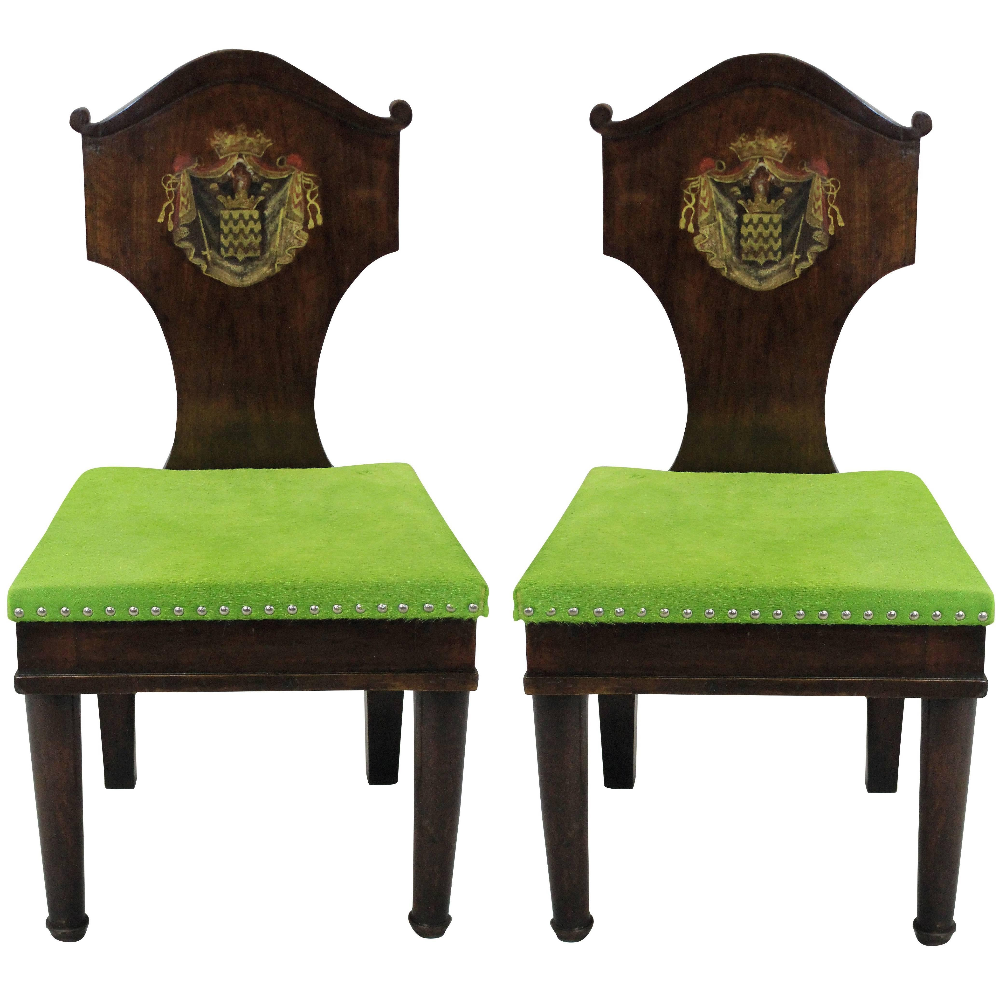 Donghia Sessel Pair Of Large Hall Chairs In The Manner Of Thomas Hope Bei