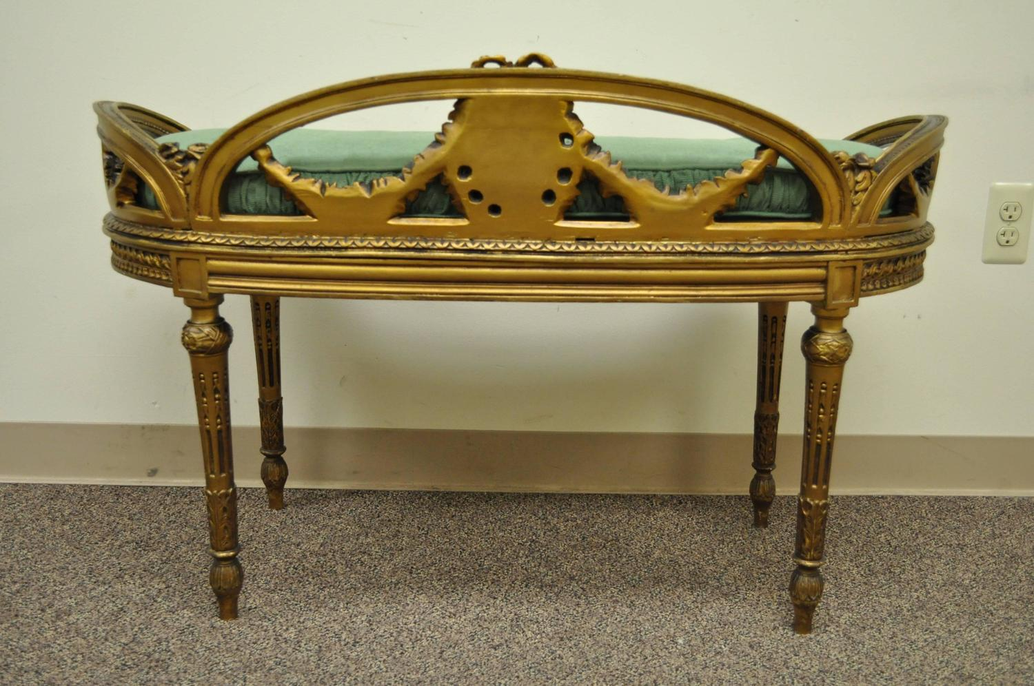 Vanity Bench For Sale Early 20th Century French Louis Xvi Style Kidney Shape