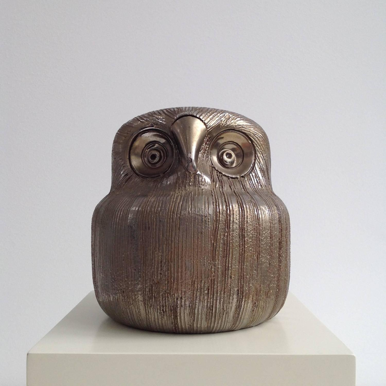Pottery Owls For Sale Beautiful Ceramic Owl Italy 1970 For Sale At 1stdibs