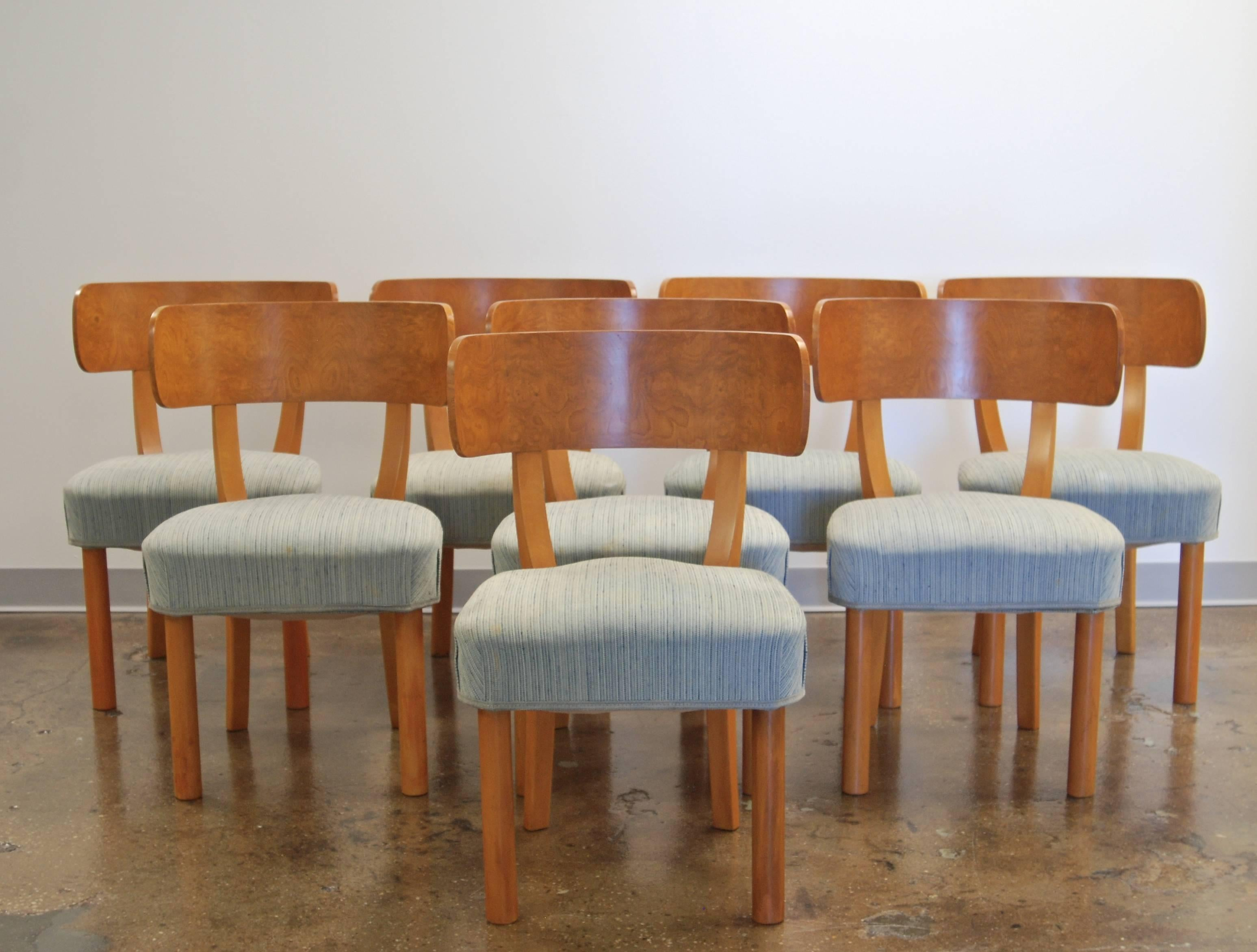 Set Of Eight Dining Chairs By Axel Einar Hjorth For Sale