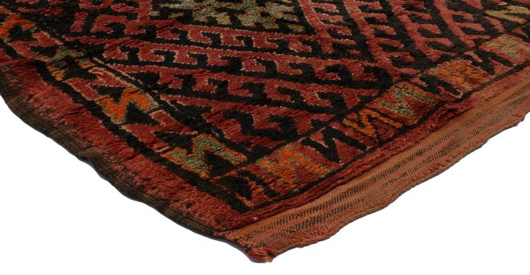 Mid Century Modern Style Berber Moroccan Runner With