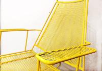 Mid-Century Metal Mesh Patio Rocking Chair at 1stdibs