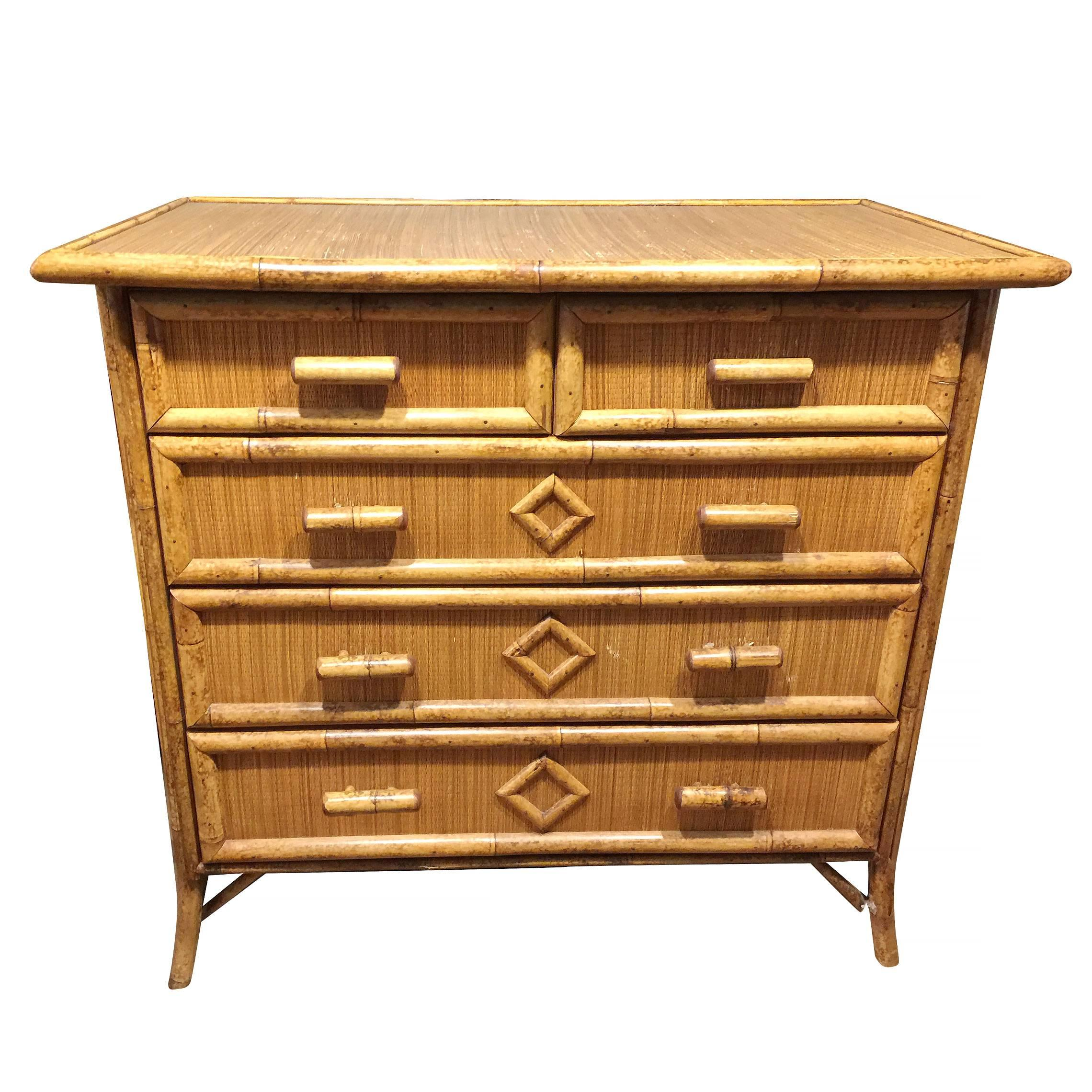 Lowboy Dresser Tiger Bamboo Lowboy Dresser With Ricemat Covering