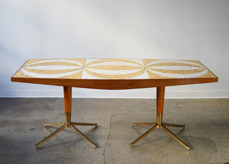 Mid Century Mosaic Dining Table At 1stdibs