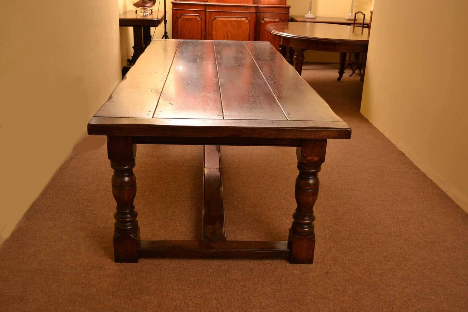 3 X 8 Table English Solid Oak Refectory Dining Table For Sale At 1stdibs