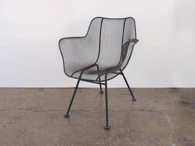 Set Of Eight Sculptura Patio Chairs By Russell Woodard At