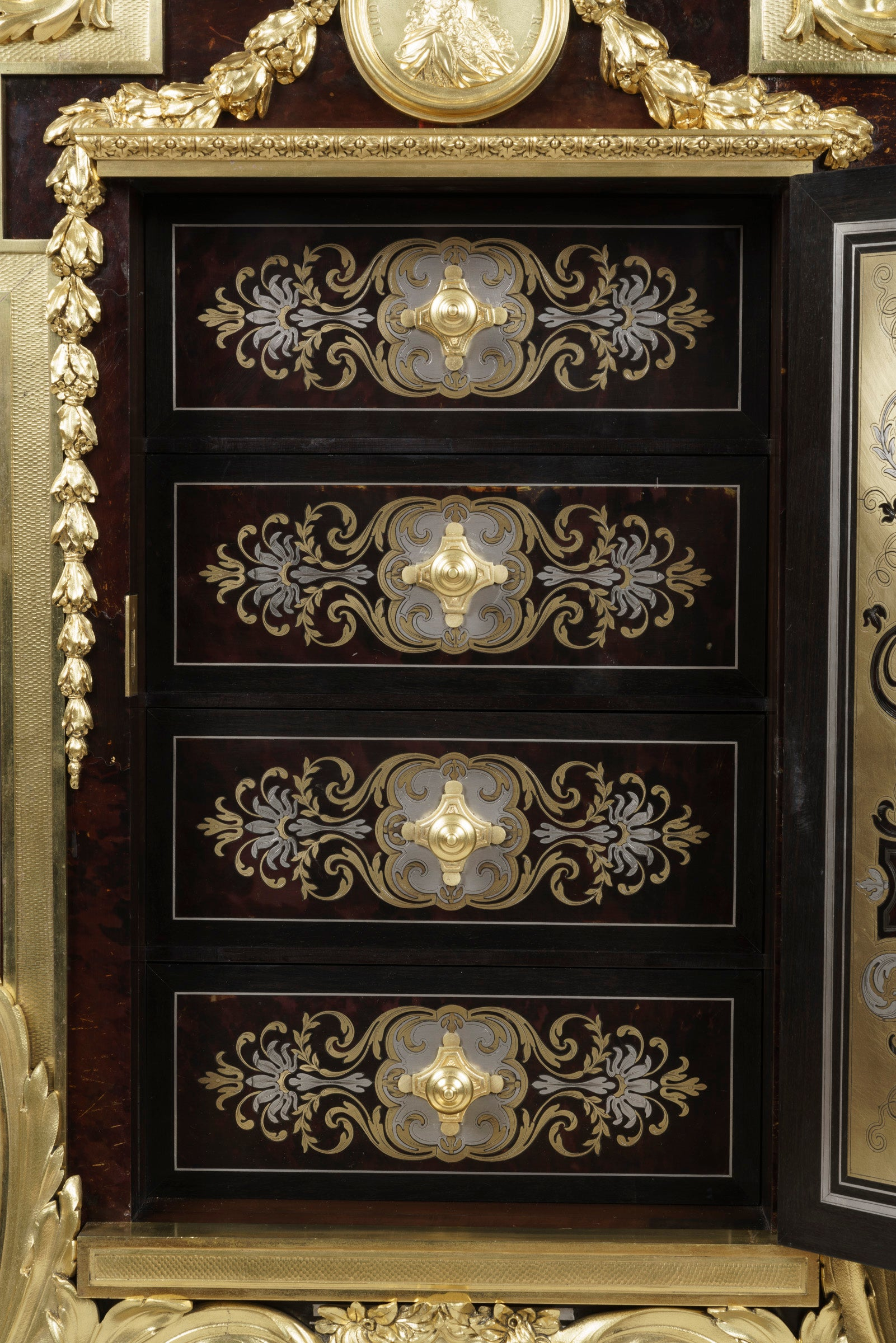 Accent Rex Meubles Rare Boulle Marquetry Cabinet Attributed To Charles Guillaume Winckelsen