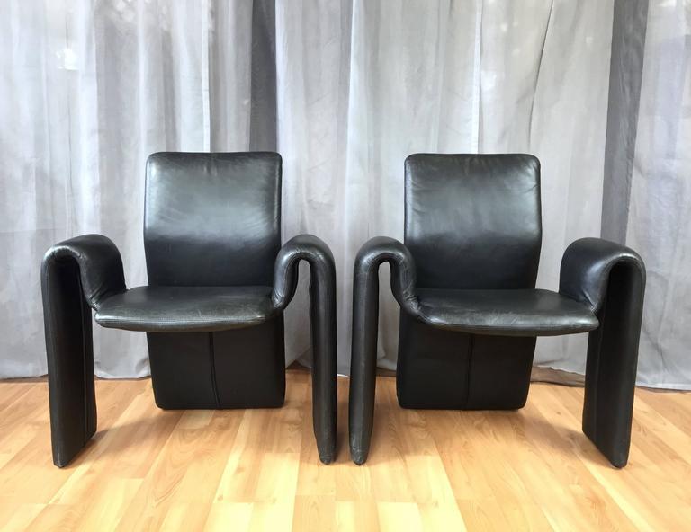 Rare Set Of Four Steve Leonard Dining Chairs For Brayton