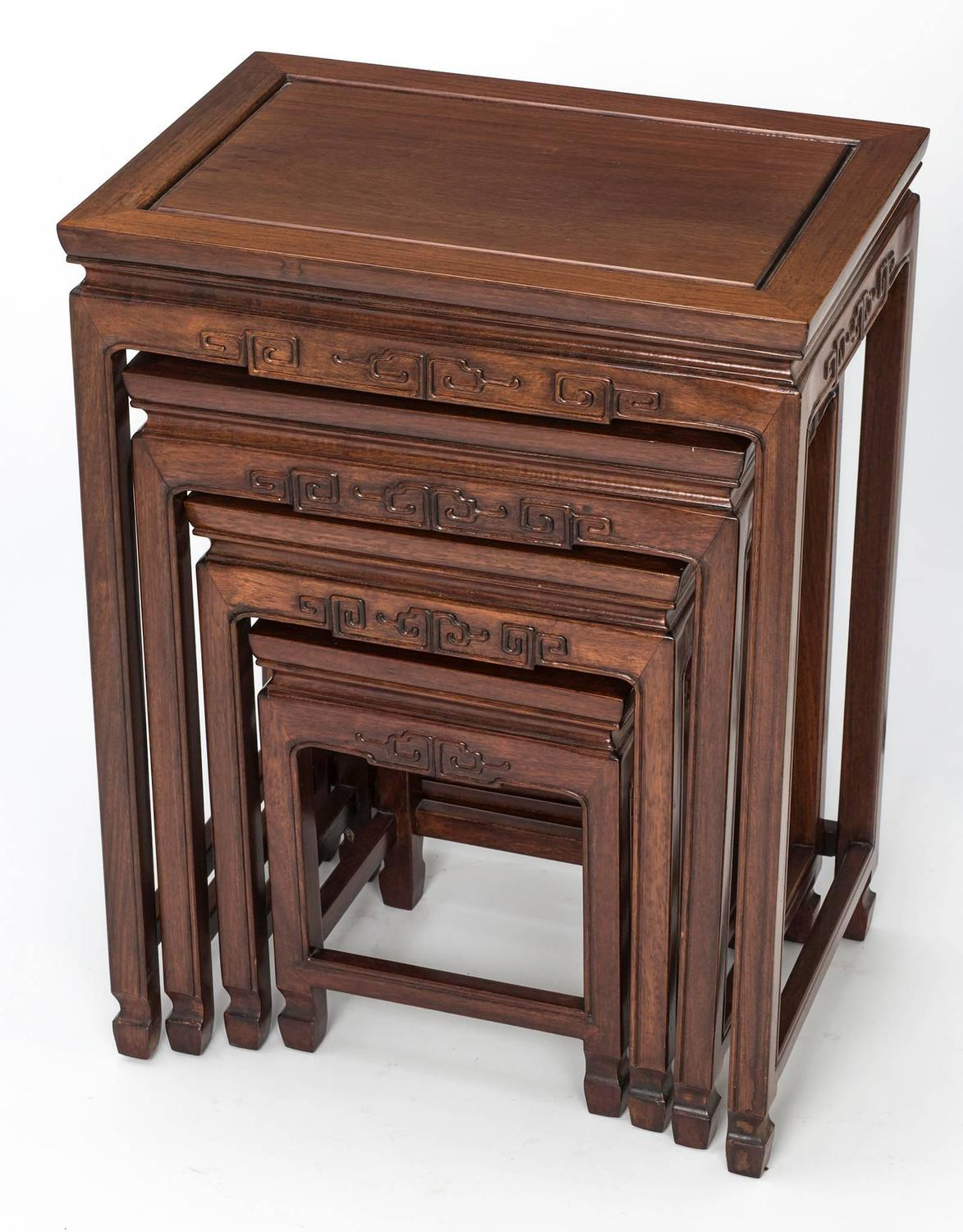 Asian Nesting Tables Rosewood Chinese Nesting Tables For Sale At 1stdibs