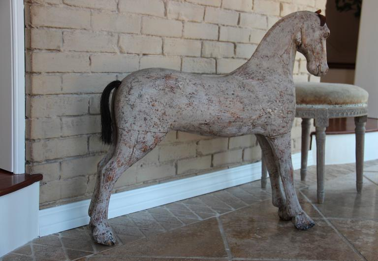 19th Century Swedish Wooden Toy Horse At 1stdibs