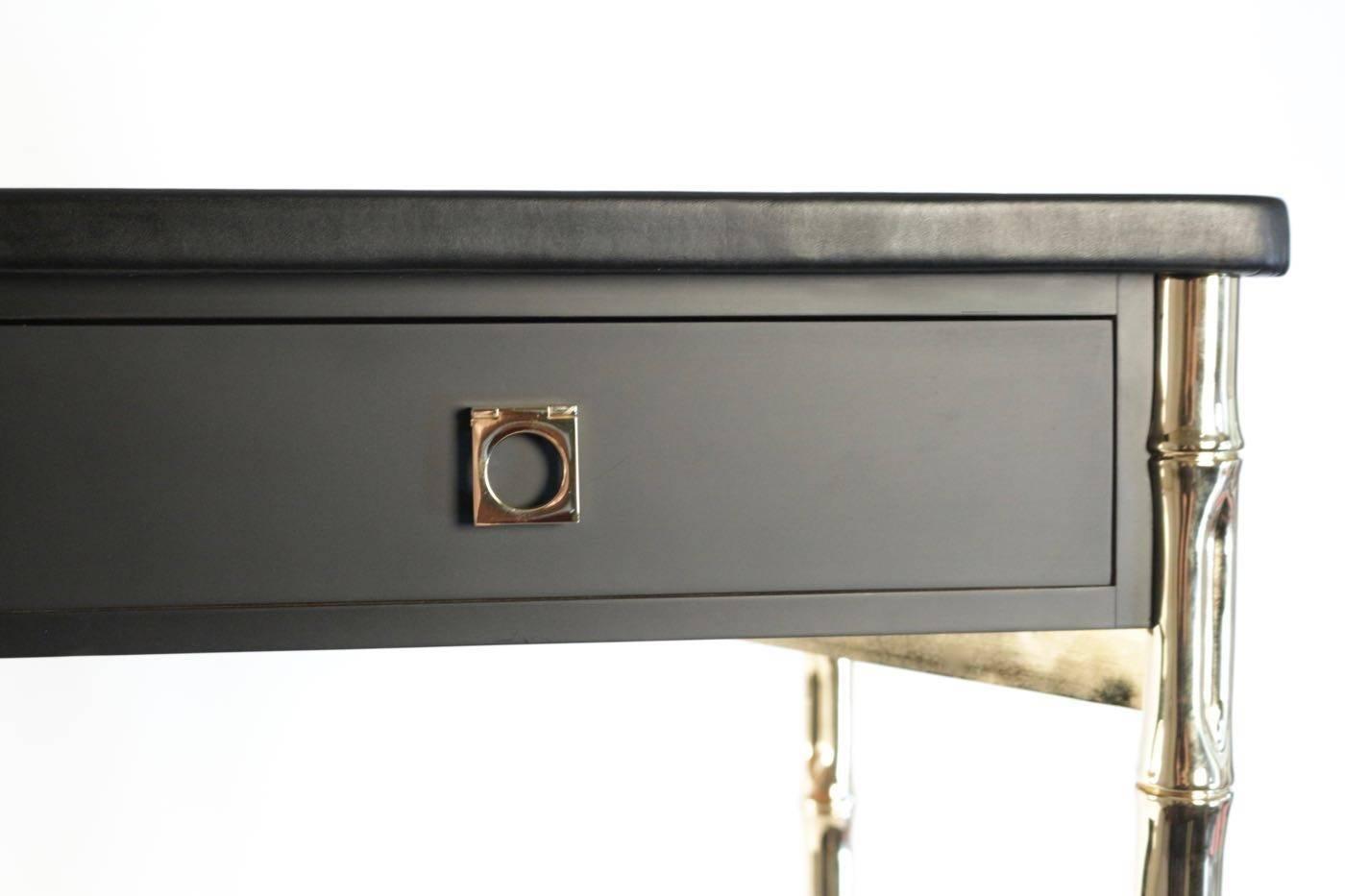 1960s Maison Jansen Desk With Guy Lefevre Brass Handles