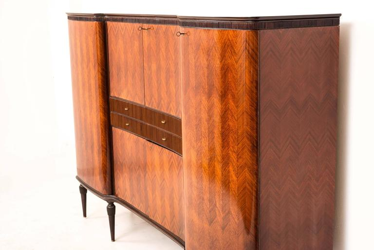 Italian Sideboard Bar Cabinet In The Style Of Paolo