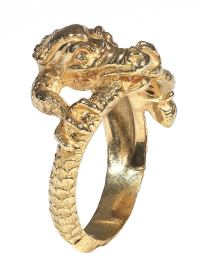 Gold Dragon Ring For Sale at 1stdibs
