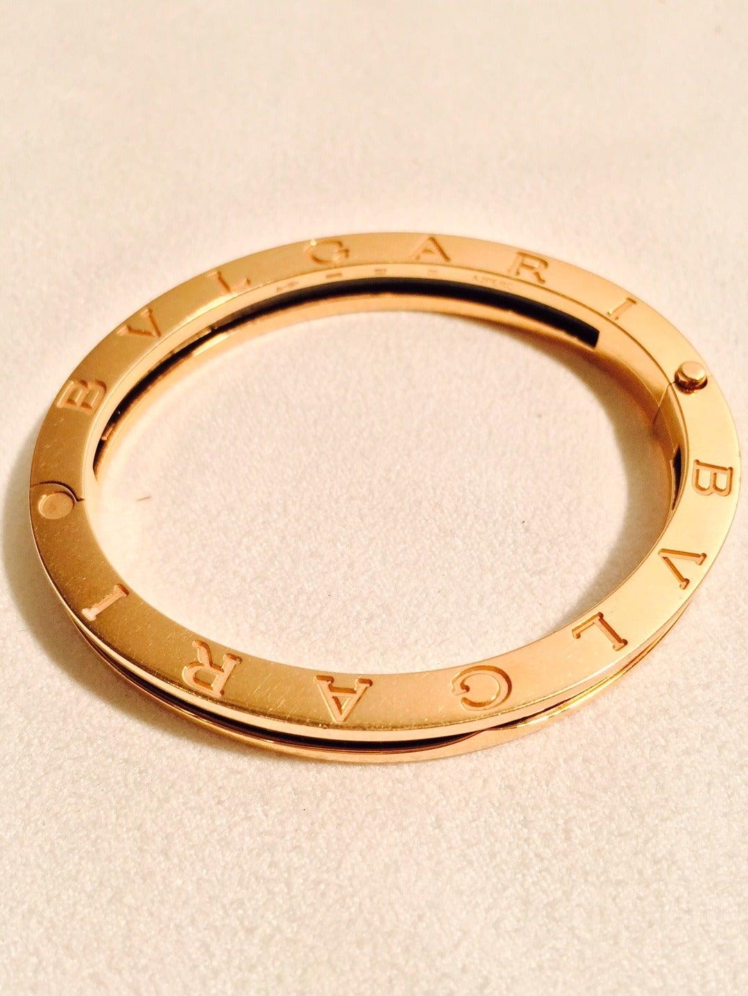 Bvlgari Gold Bangle Bracelet At 1stdibs