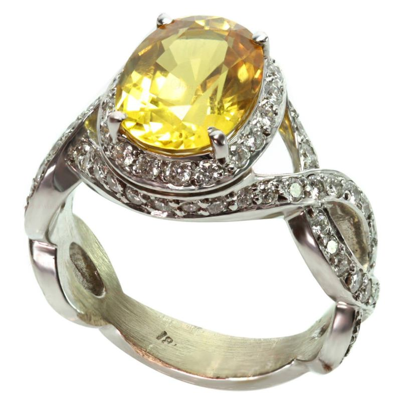 Large Of Yellow Sapphire Ring