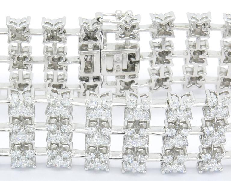 Diamond Gold Starburst Tennis Bracelet For Sale At 1stdibs