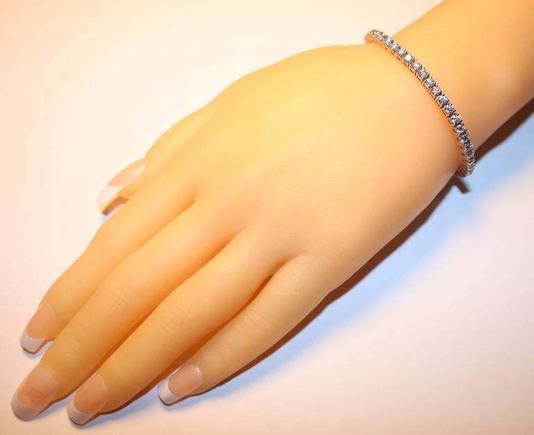 375 Carats Diamond Gold Tennis Bracelet For Sale At 1stdibs
