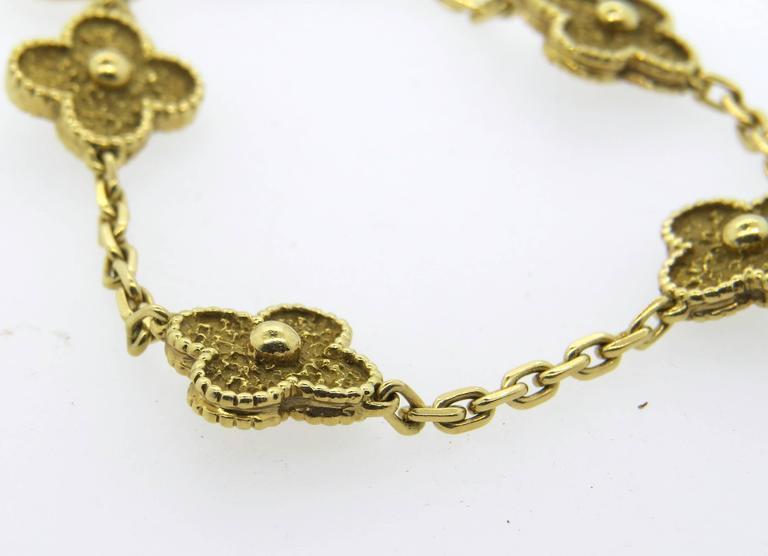 Van Cleef And Arpels Vintage Alhambra Gold Bracelet At 1stdibs