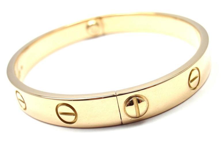 Cartie Love Gold Bangle Bracelet At 1stdibs