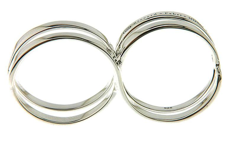 Fabri Infinity Double Loop Adjustable Silver Ring For Sale