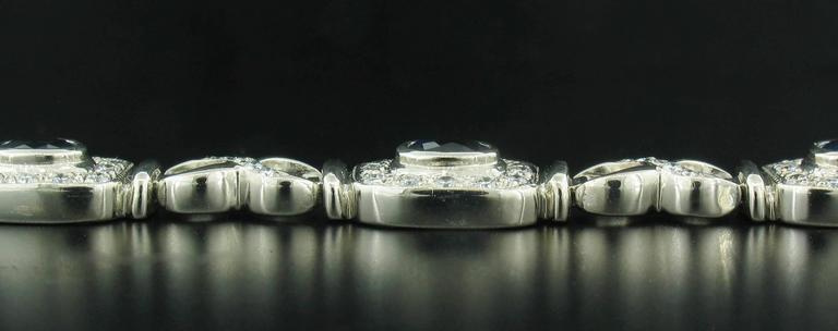 Sapphire Diamond Gold Tennis Bracelet At 1stdibs