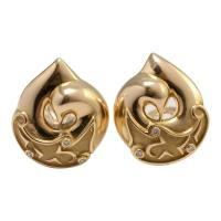 Boodles Gold Diamond Clip-On Earrings For Sale at 1stdibs