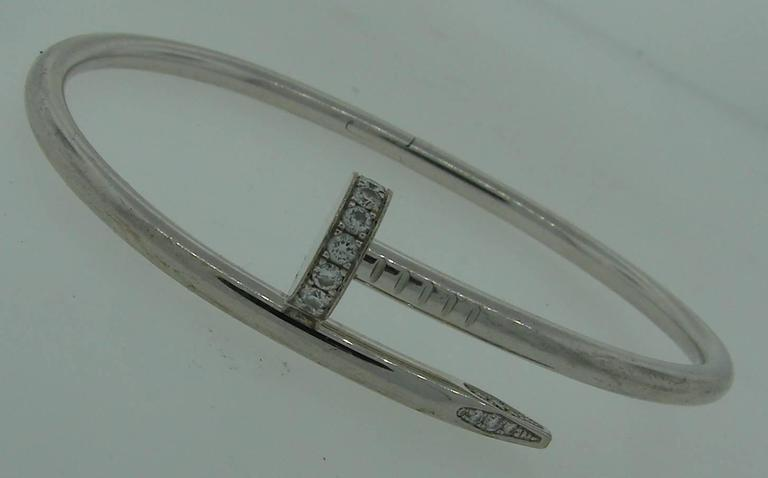 Cartier Juste Un Clou Diamond Gold Bangle Bracelet At 1stdibs