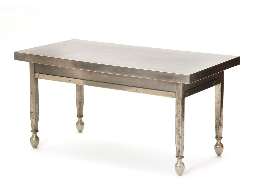 Low Tables For Sale Low Nickel Plated Table For Sale At 1stdibs