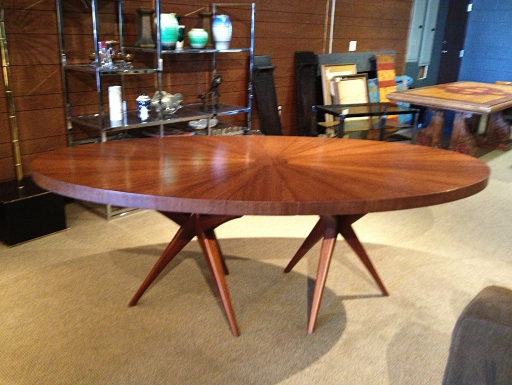 Stunning Mid Century Modern Dining Table With Tripod Bases